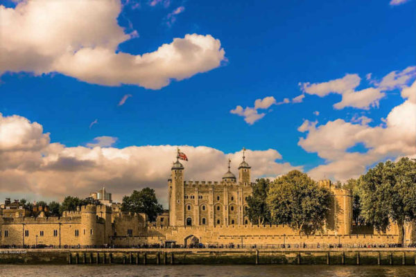 Tower Of London on River Thames