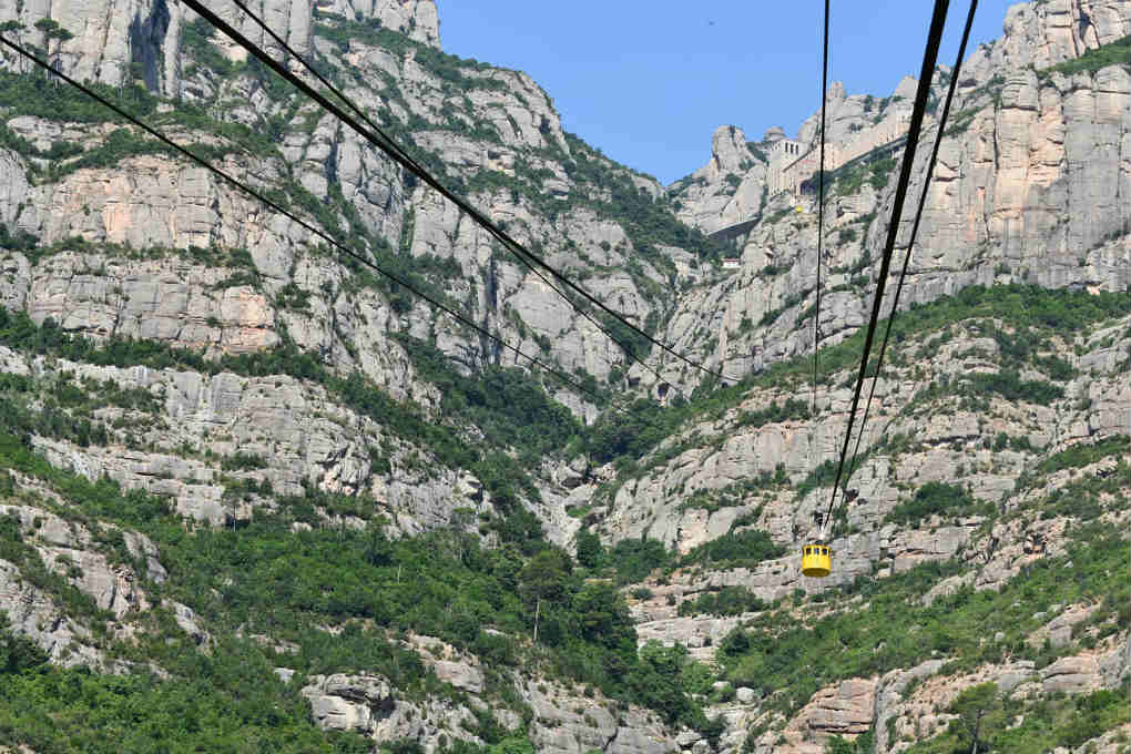 Cable car up to the Montserrat Monastery