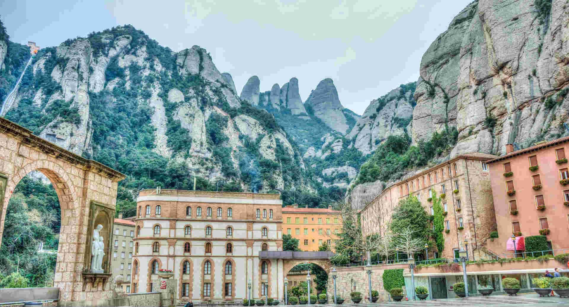 Monastery in the Montserrat mountains