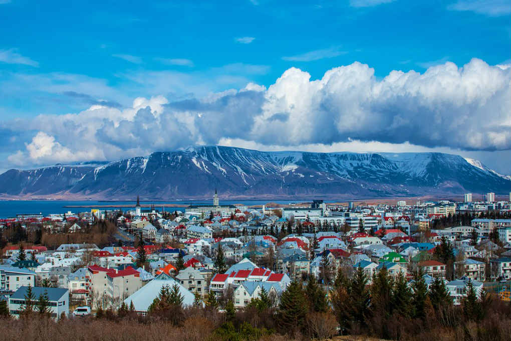 View over Reykjavik in Iceland