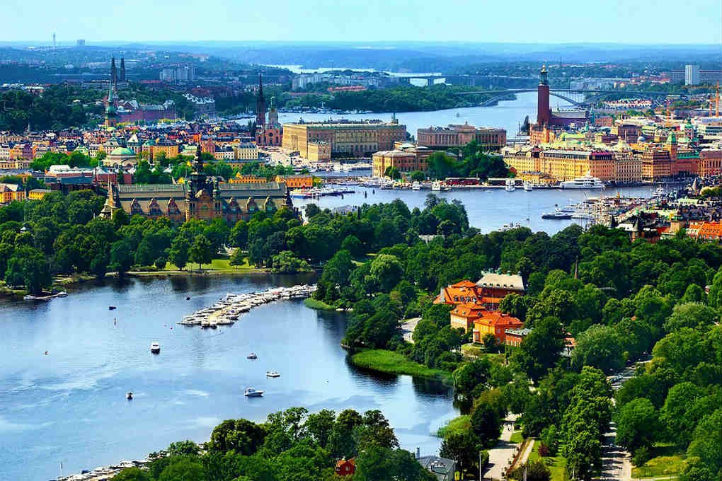 View over Stockholm in Sweden