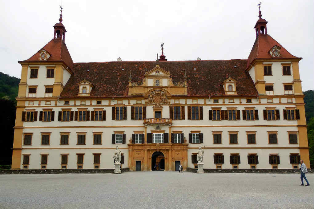 View of the front of the Eggenberg Palace