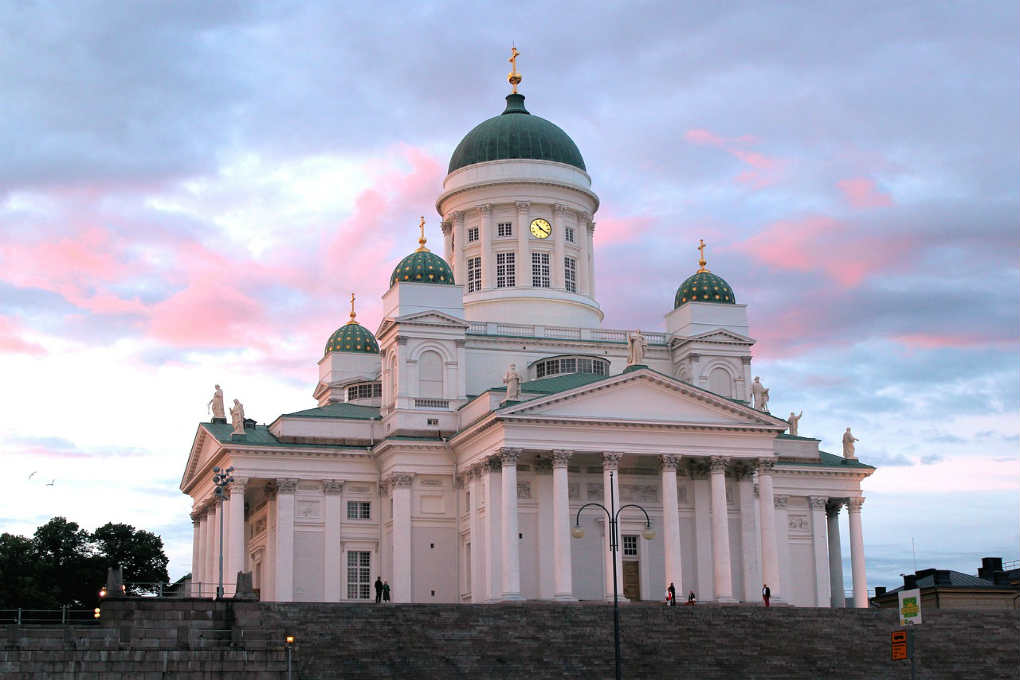 View of the Helsinki cathedral