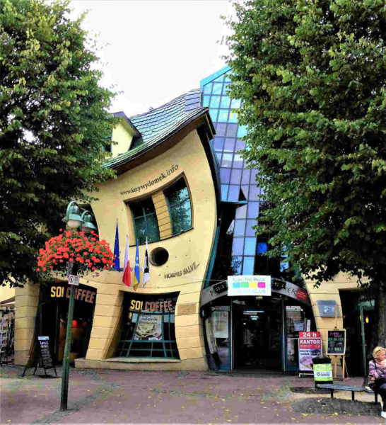 Sopot wonky building