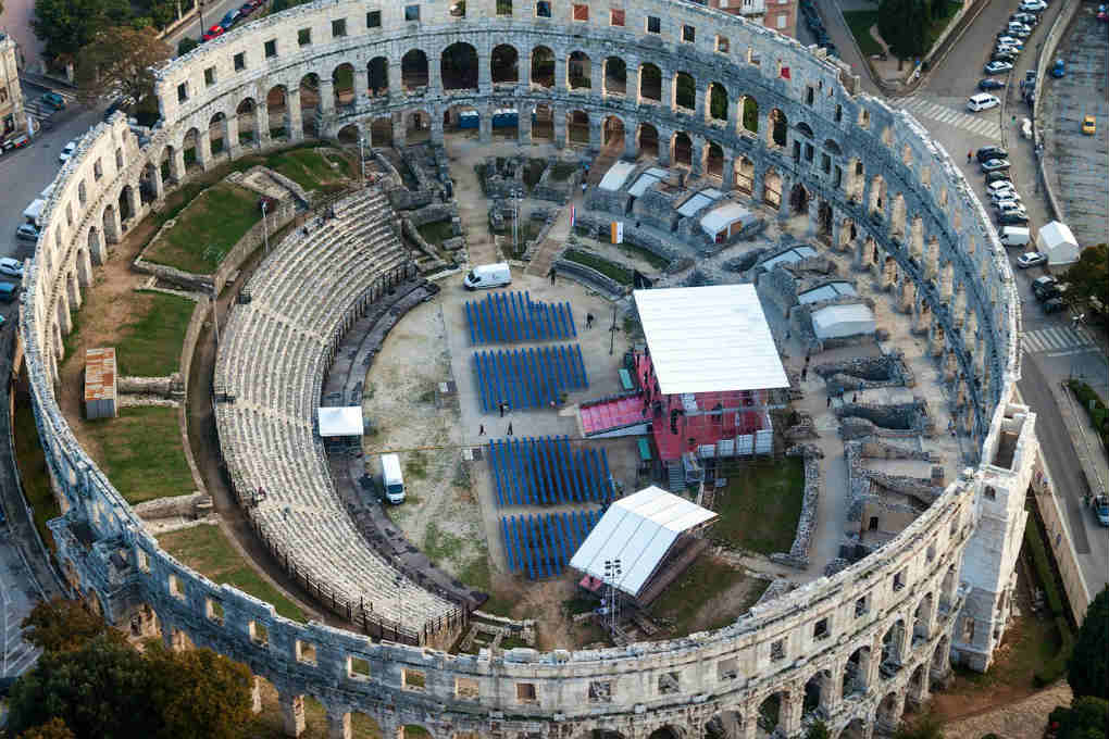 Pula Arena from above