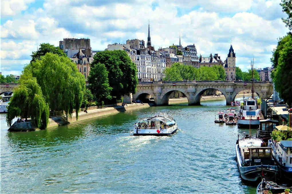 Canal tour in Europe