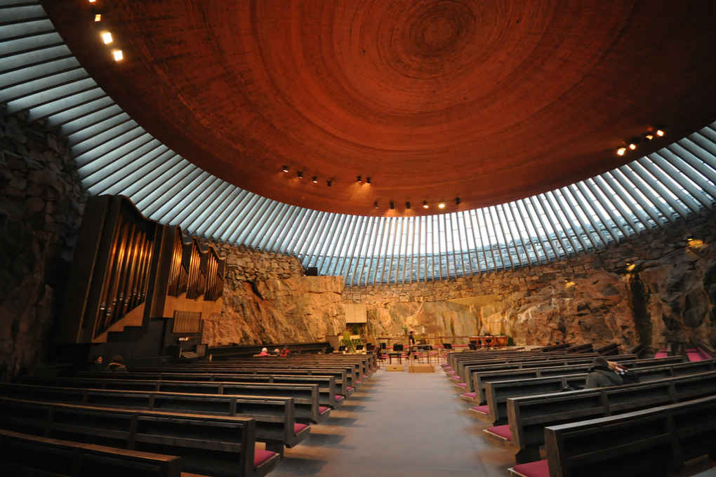 Interior of the Temppeliaukio church