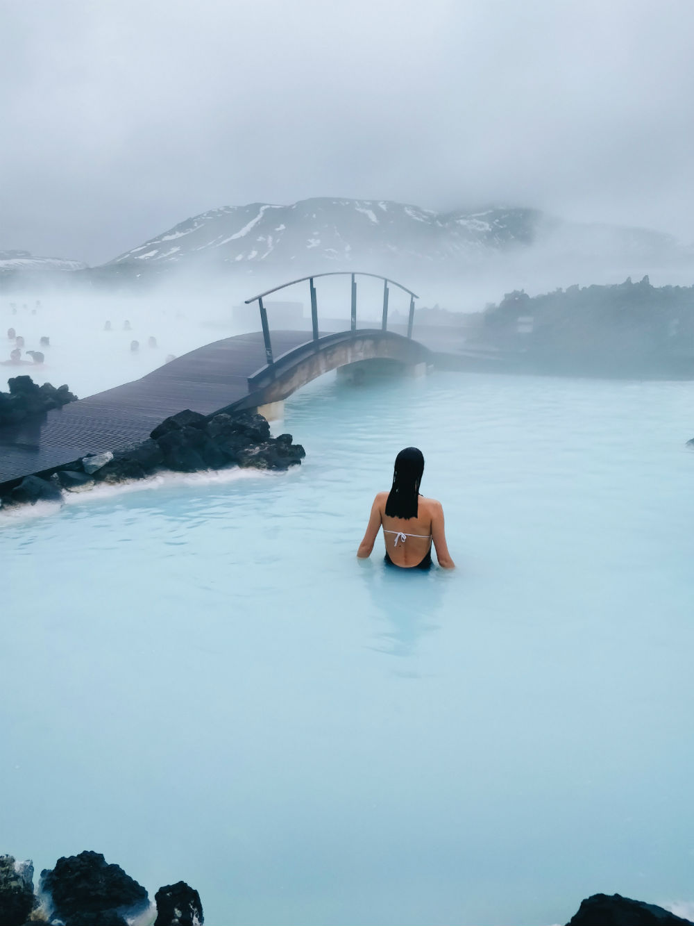 Woman in Blue Lagoon