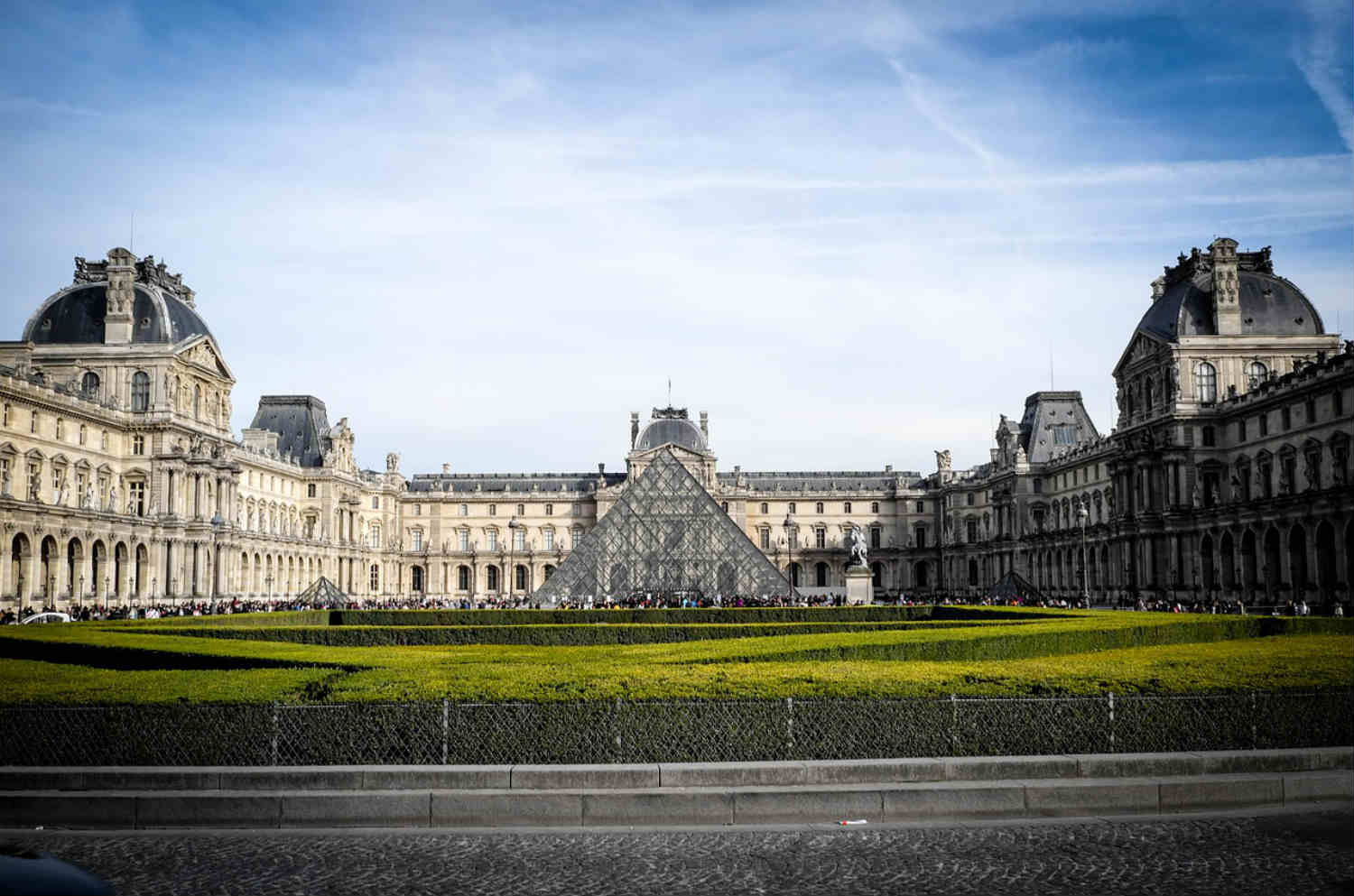 exterior of the louvre