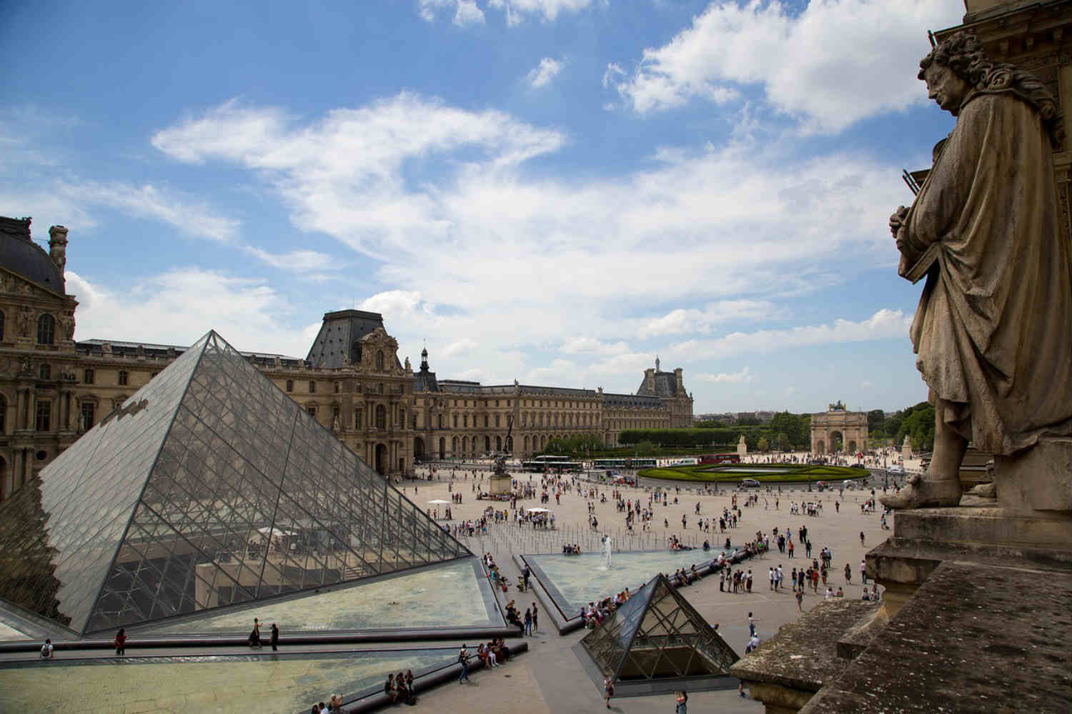 view over the louvre museum
