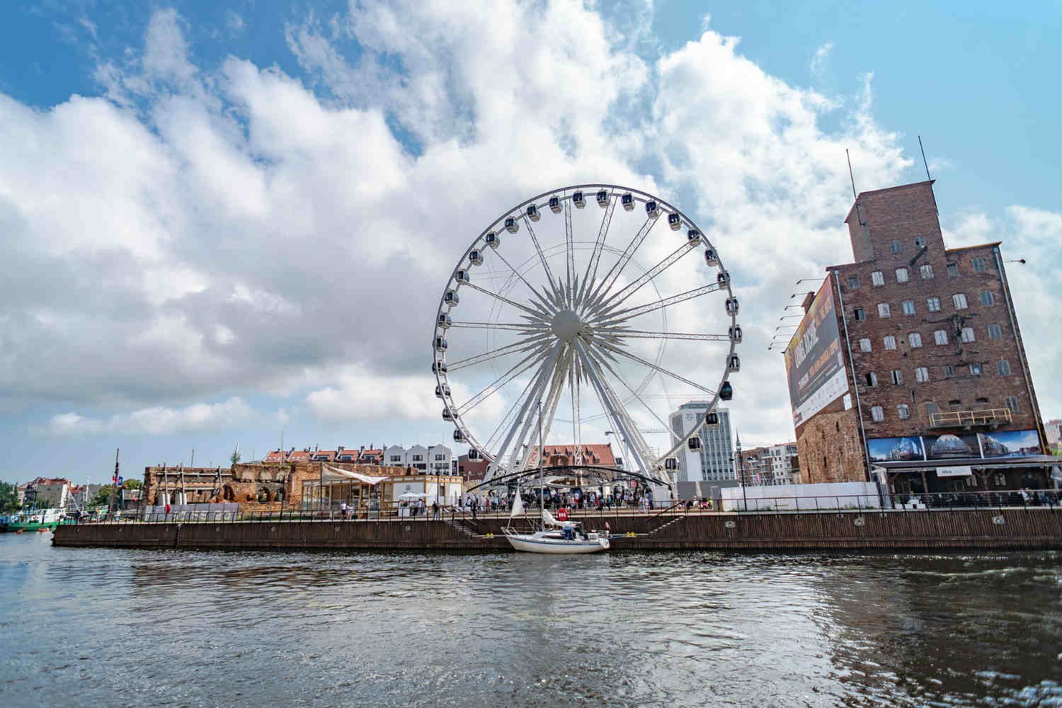 waterfront ferris wheel in gdansk