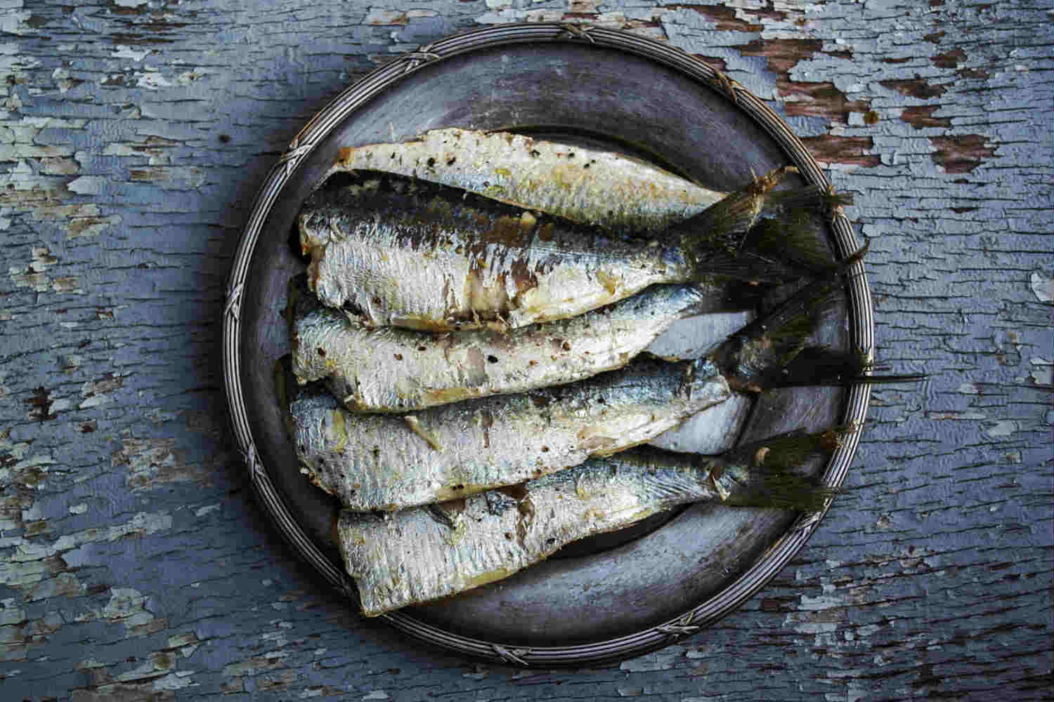 plate of sardines at feast of st anthony